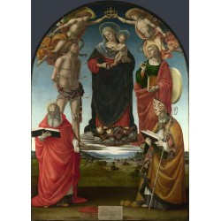 The Virgin and Child among...