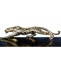 Golden leopard, sculpture...
