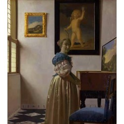 A Young Woman Standing at a...