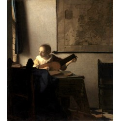 Woman with a Lute near a...