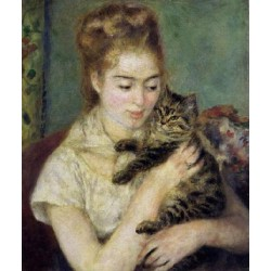 Woman with a Cat,Pierre...