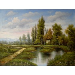 Landscape, oil painting on...
