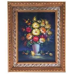 Flora, oil painting with...