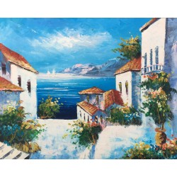 Mediterranean, oil painting...