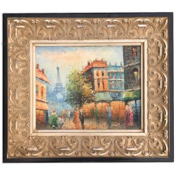 Paris, oil painting with...