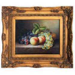 Fruits, oil painting with...