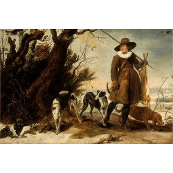 A Hunter with Dogs Against...