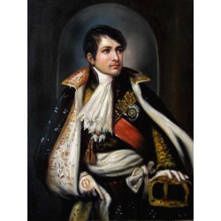 Napoleon portrait, oil...