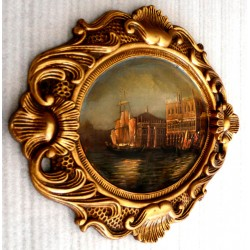 Venice, oil painting with...