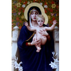 Madonna, hand-painted oil...