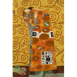 After KLimt, hand-painted...