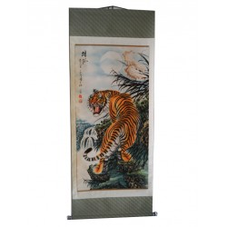 Tiger Asian painting on...