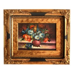 Floral painting with...