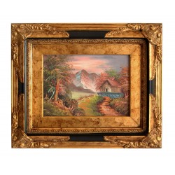 Landscape painting with...