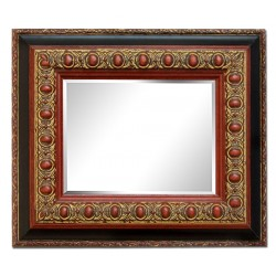 28x33 cm, golden frame with...