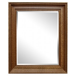 Beveled mirror in solid...