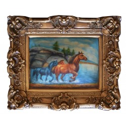 Horses painting with...